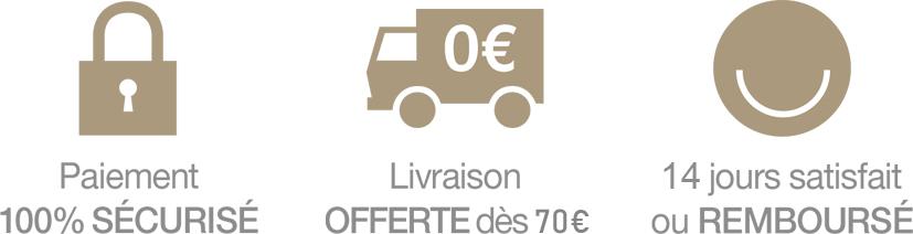 Paiement sécurisé - Livraison gratuite dès 70€ - Retour 14jours
